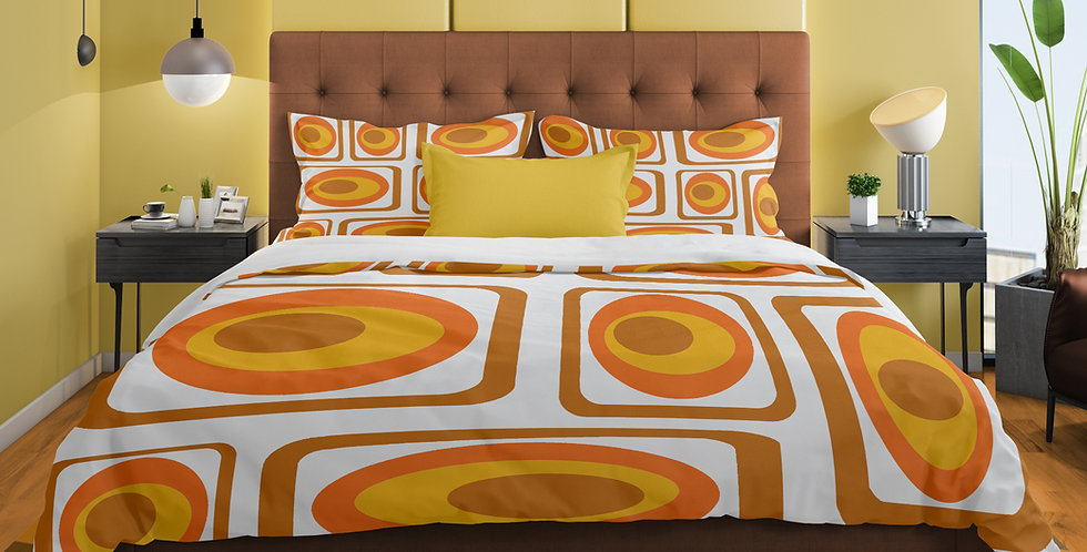 Mid Century Modern 3 pc Duvet Cover Set- - Ollie
