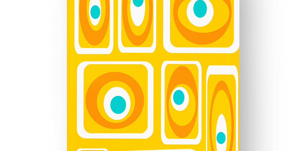 Yellow Mid Century Modern Tea Towel