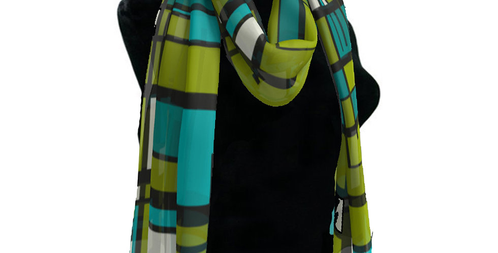 Blue/Green Grid Scarf