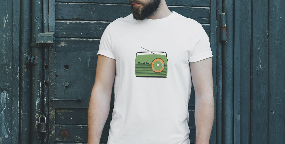 Retro Radio Unisex T Shirt/ Green