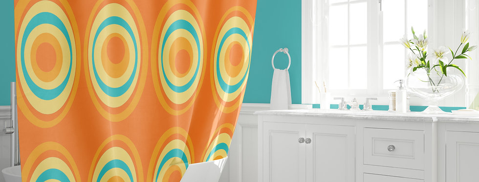 Mid Century Modern Shower Curtain - Audie
