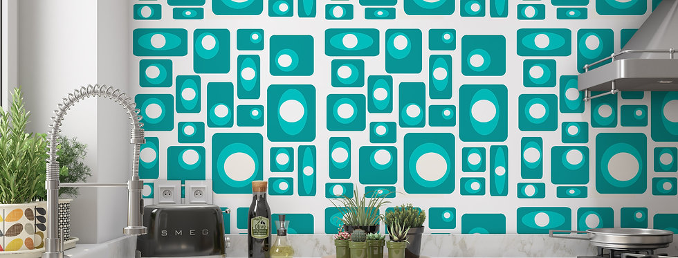 Baldwin- Mid Century Modern Wallpaper