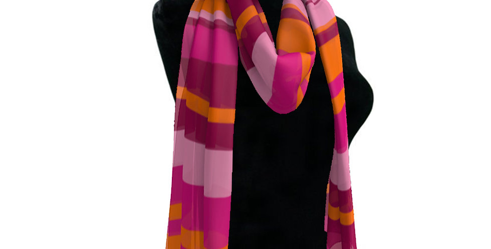 Pink/Orange Stripe Scarf