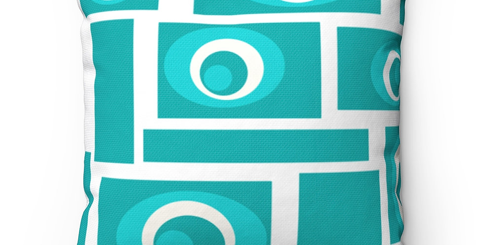 Modern Outdoor Pillow,Mid Century Modern Outdoor Pillow, Turquoise Outdoor Pillow,, Colorful Outdoor Pillow
