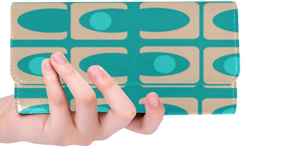 Turquoise geometric Print Wallet