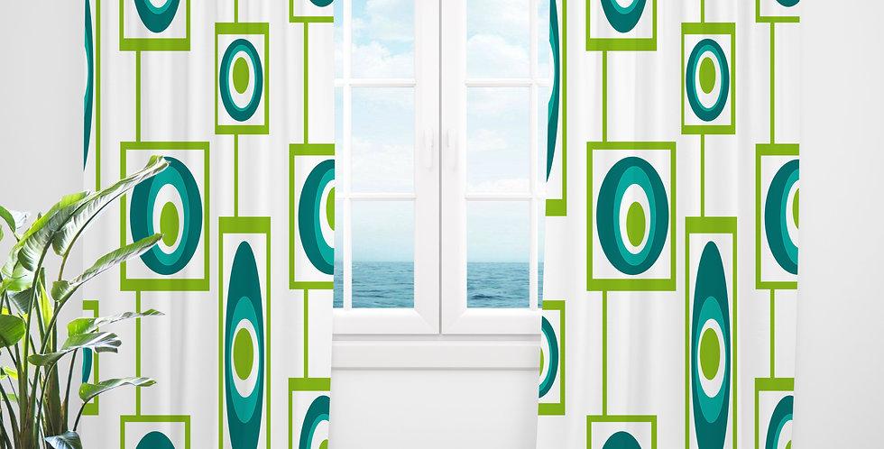Mid Century Modern Curtains -Kelly