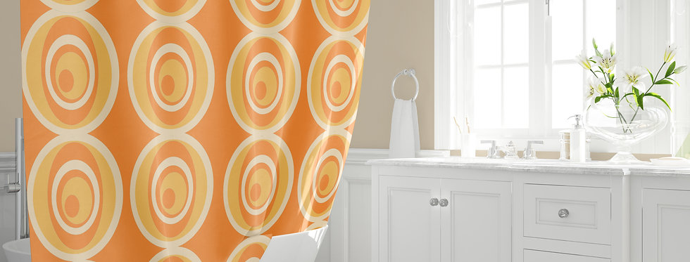 Mid Century Modern Shower Curtain - Neal