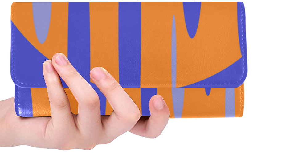 Purple/ Orange Print Wallet
