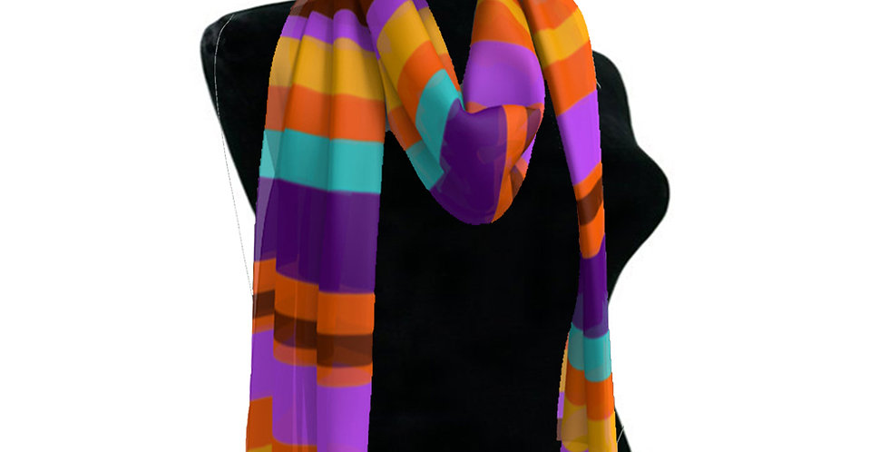 Purple/Orange Stripes Scarf