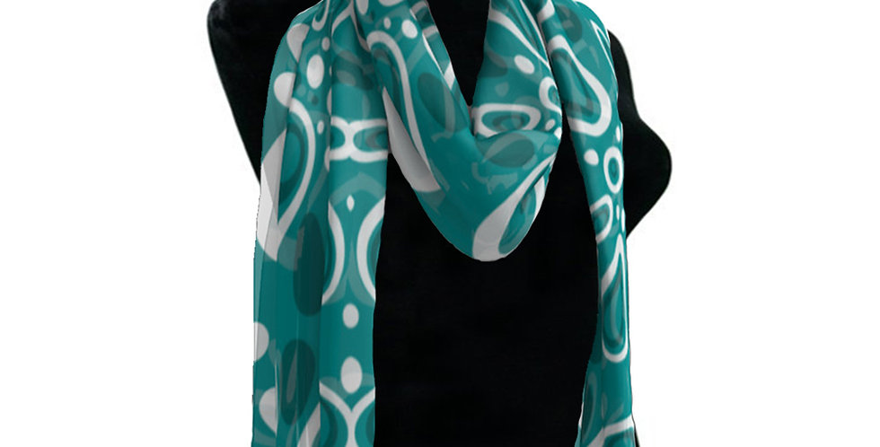 Blue/White Floral Scarf