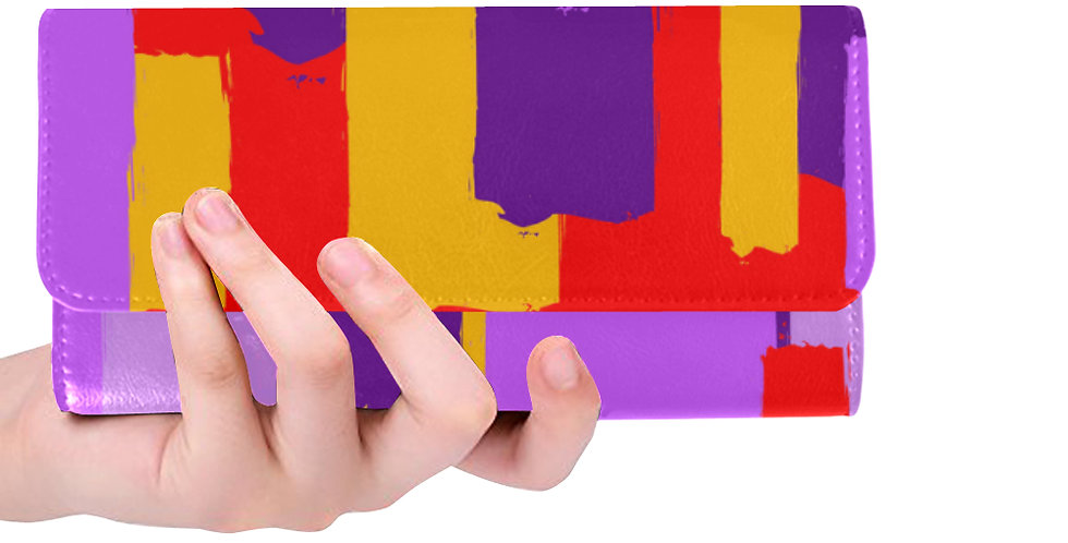 Purple/Red/Yellow Wallet