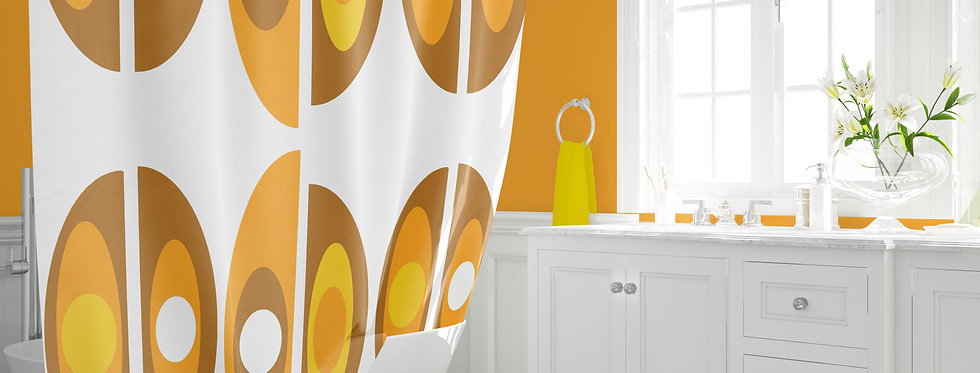 Mid Century Modern  Shower Curtain  - Holden