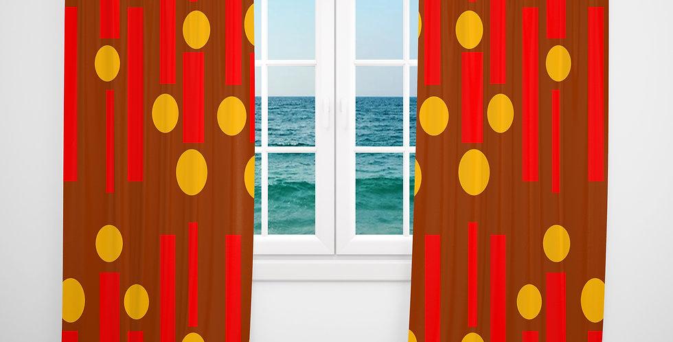 Mid Century Modern Curtains - Stone