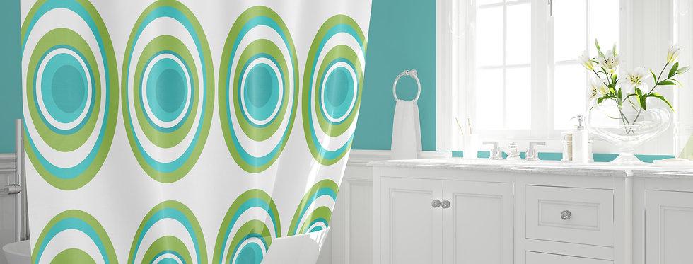 Mid Century Modern Shower Curtain -Bailey