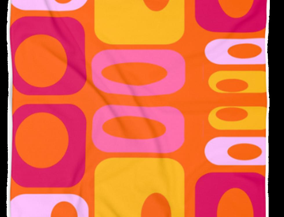 Retro Orange Beach Towel