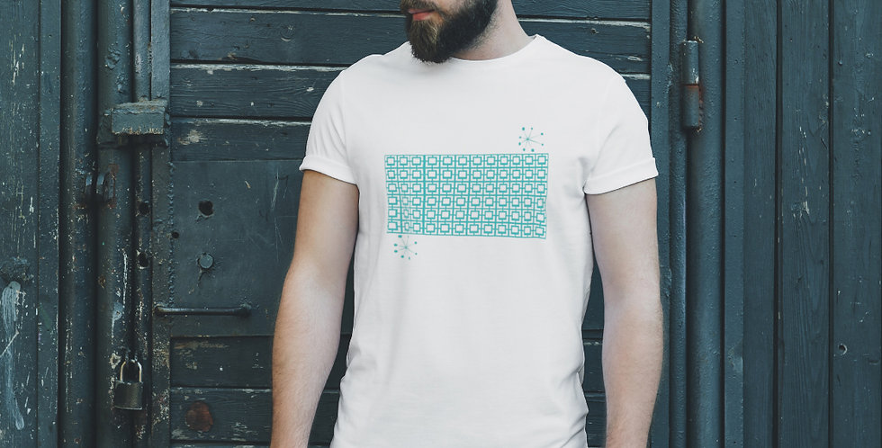 Turquoise Breeze Block Unisex T Shirt