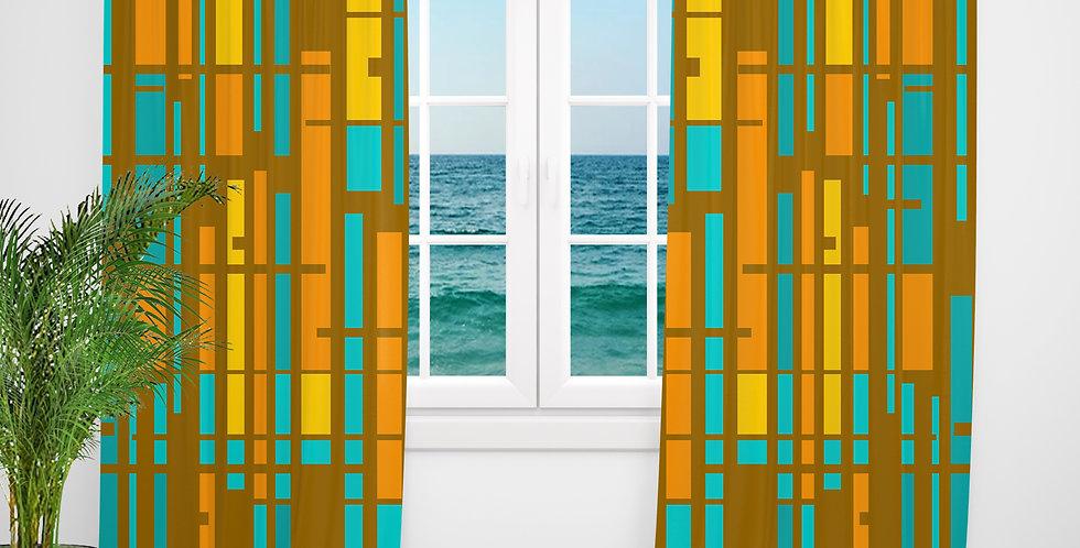 Mid Century Modern Curtains - Warren