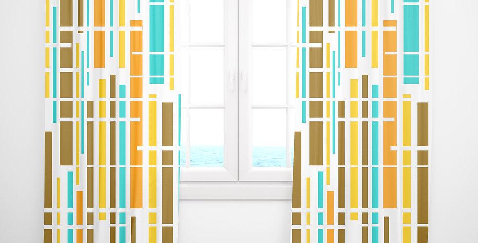 Mid Century Modern Curtains -Duncan