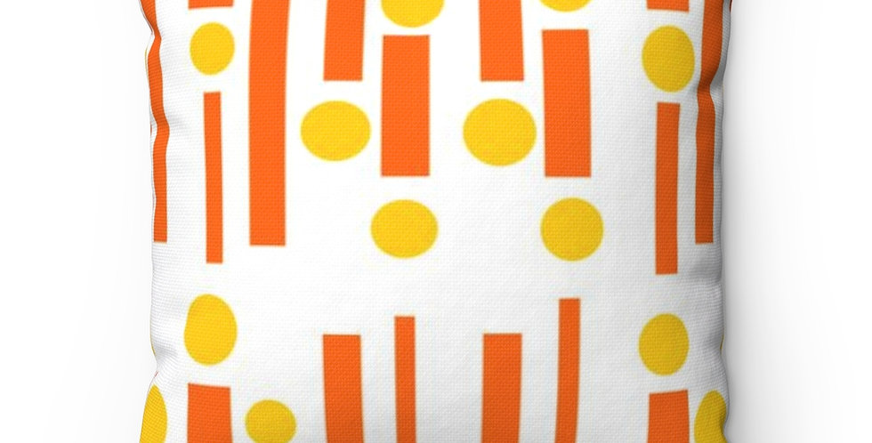 Modern Outdoor Pillow,Mid Century Modern Outdoor Pillow, Orange Outdoor Pillow,, Colorful Outdoor Pillow
