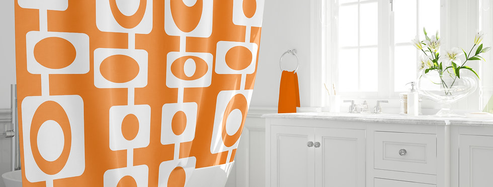 Mid Century Modern  Shower Curtain - Finlay