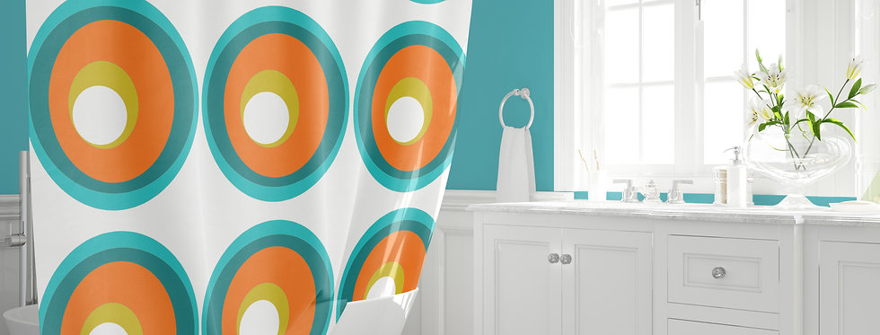 Mid Century Modern Shower Curtain - Lowell