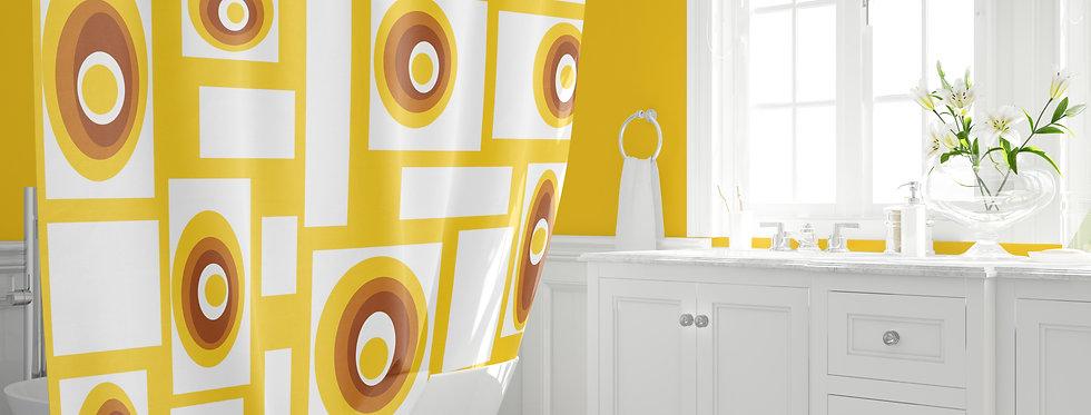 Mid Century  Modern Shower Curtain -Virgil