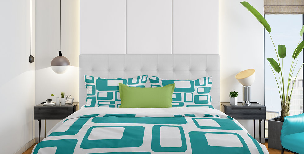 Mid Century Modern 3 pc Duvet Cover Set- Kane
