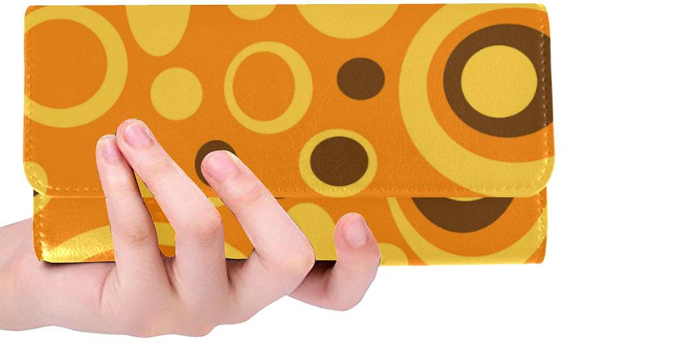 Orange /Yellow /Brown Polka Dot Wallet