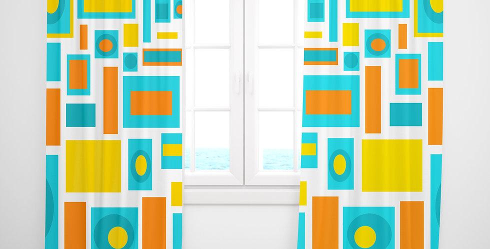 Mid Century Modern Curtains - Brook