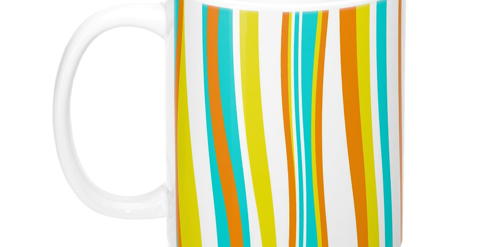 mid century striped mug