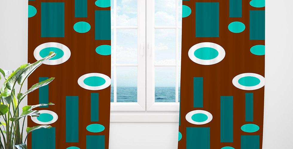 Mid Century Modern Curtains - Sheldon