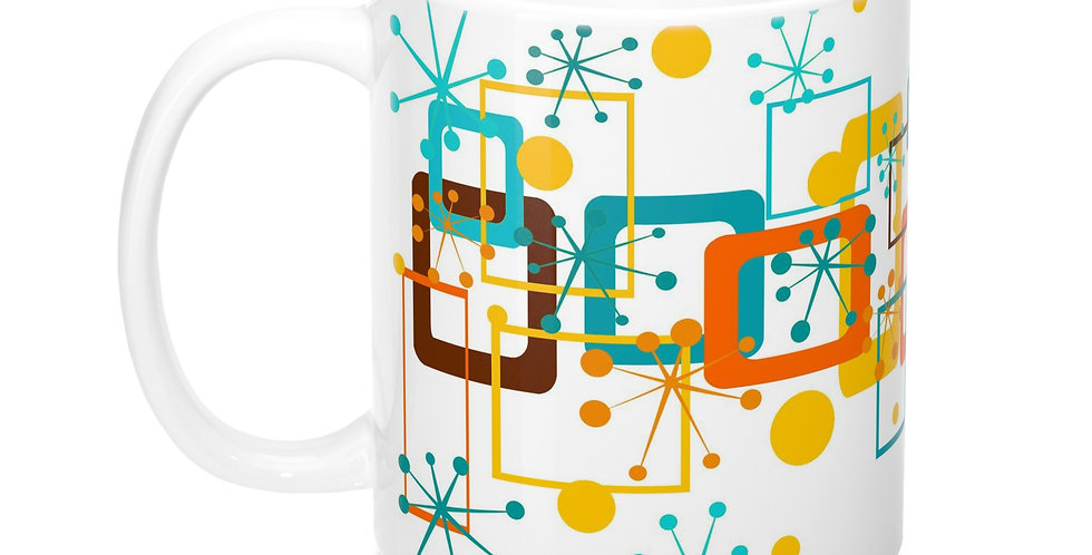 Mid century Modern Mug -M0036