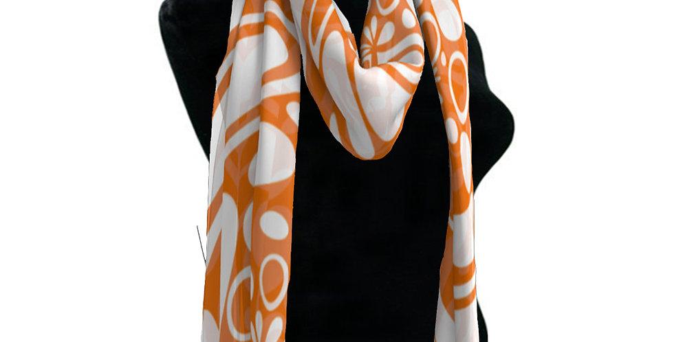 Orange/ White  Scarf