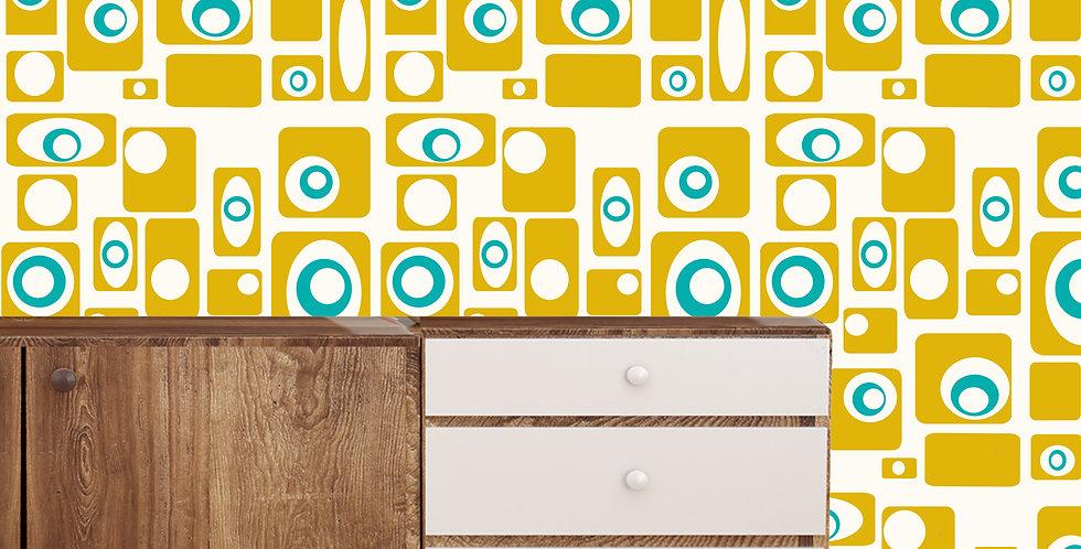 Alvin- Mid Century Modern Wallpaper