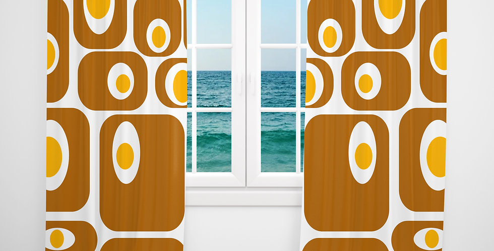 Mid Century Modern Curtains -Eggbert