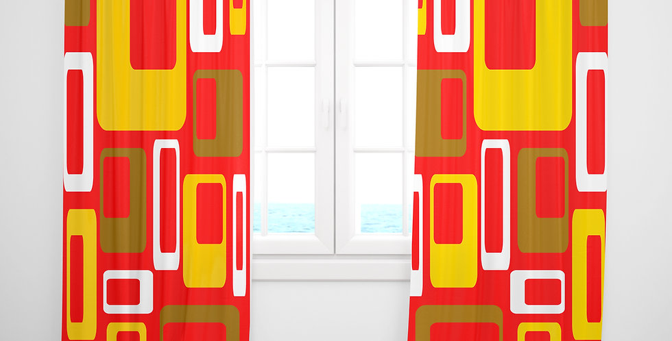 Mid Century Modern Curtains - Campbell