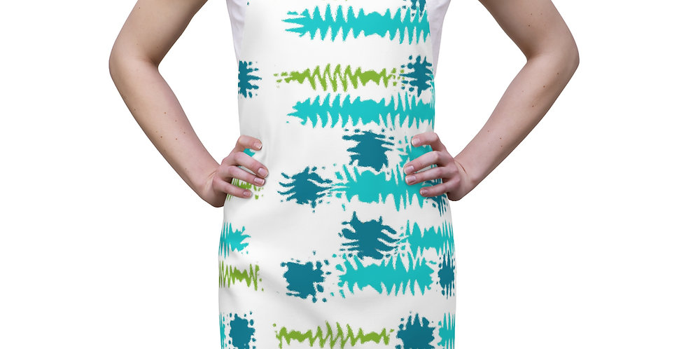 Abstract Waves Modern Apron