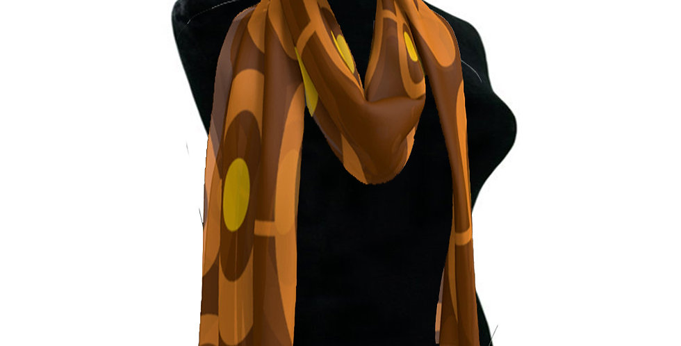 Brown/Orange  Scarf