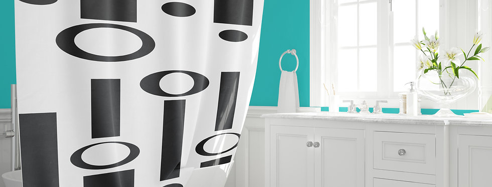 mid century modern shower curtain