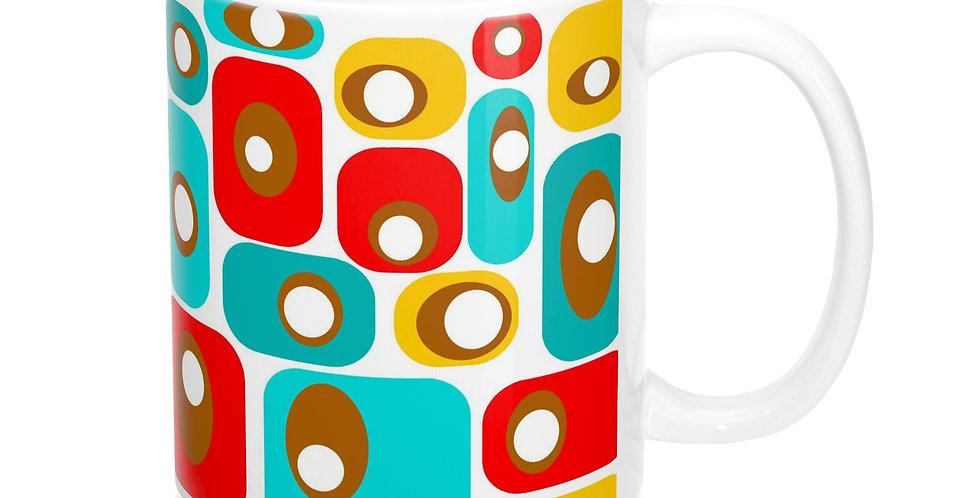 retro print coffee mug