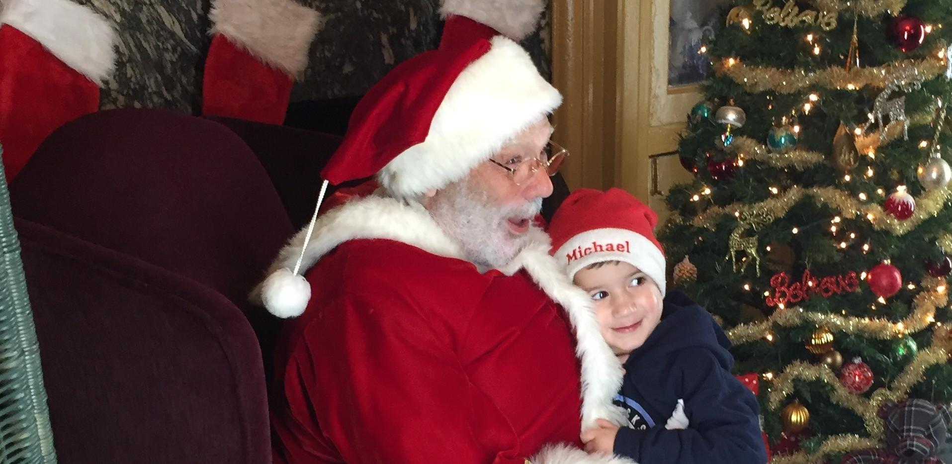 Santa Gets a Loving Hug