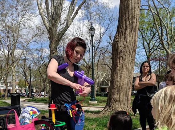 Balloon artist Emily