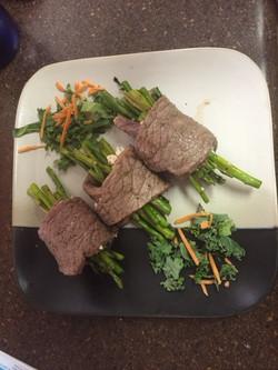 Asperagus Steak Rolls