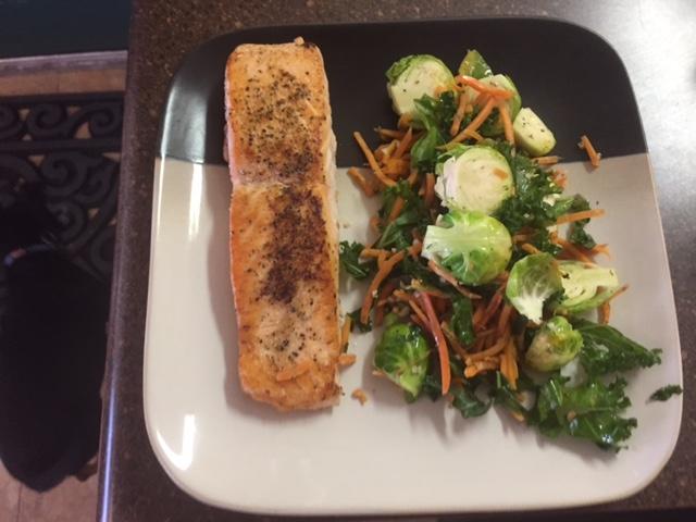 Lemon Pepper Salmon w/veggies