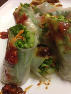 Thai rice rolls