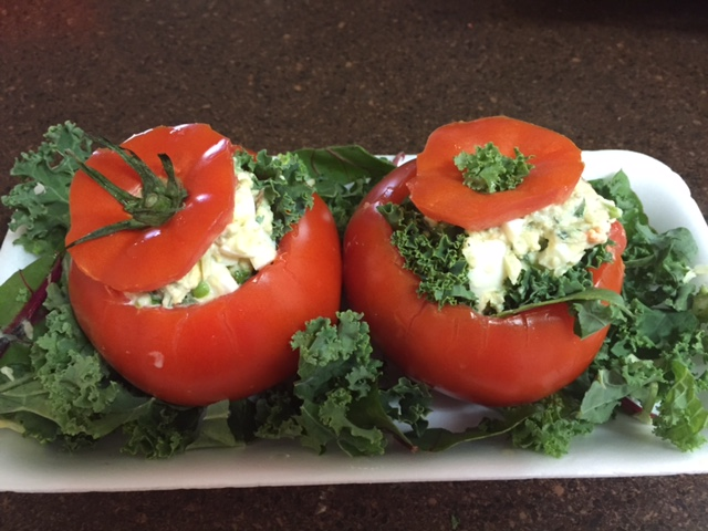 Egg Salad Stuffed Tomatoes