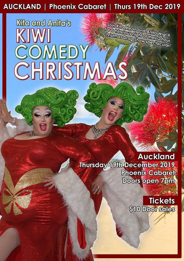 Kiwi Comedy Christmas Final Poster - Auc