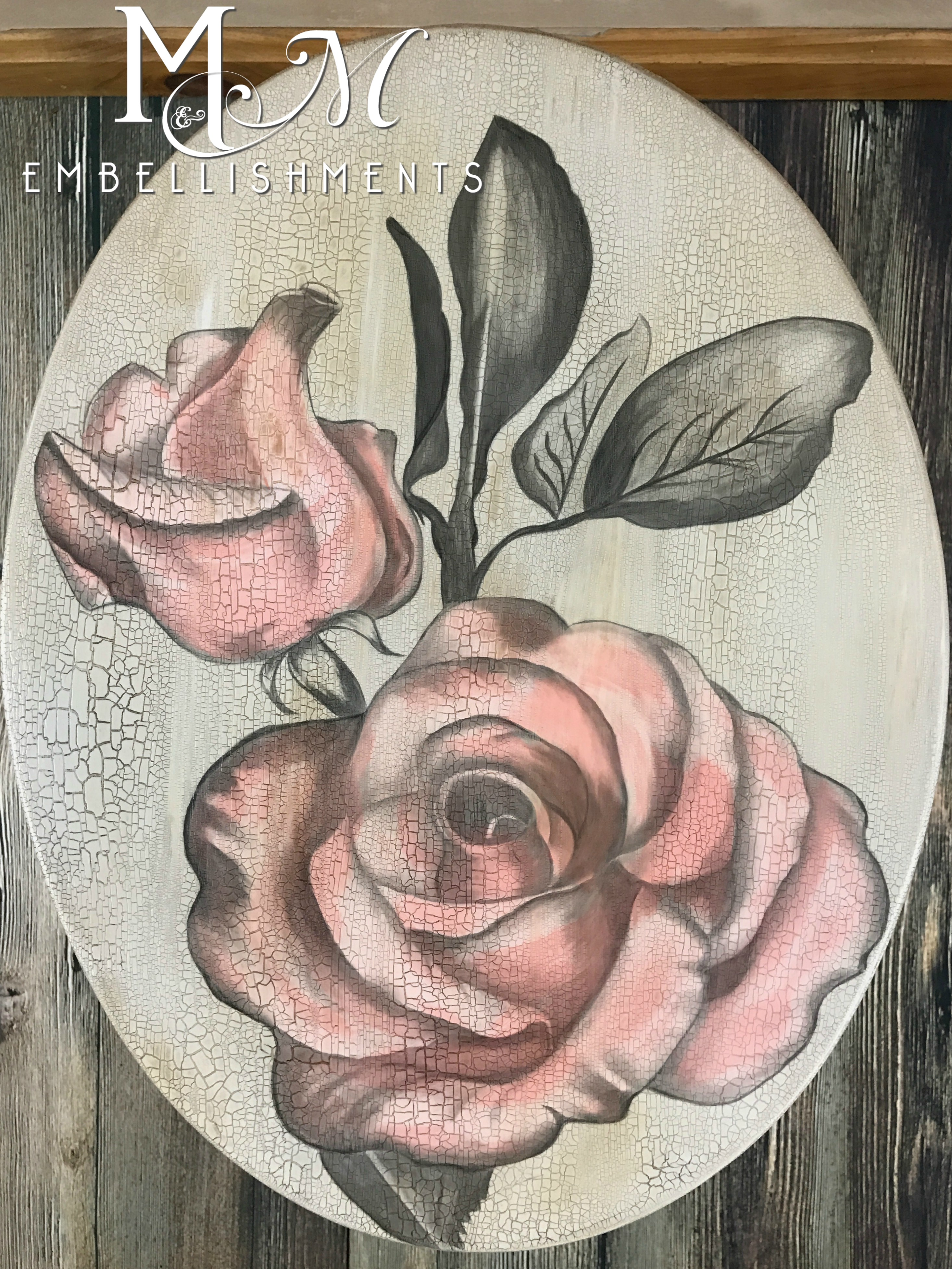 stain painting rose