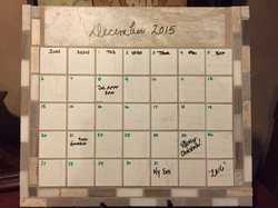 ceramic and natural stone tile calendar