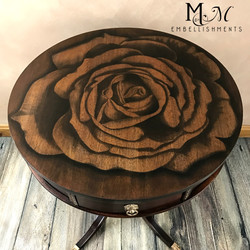 Hand Stained Rose Table